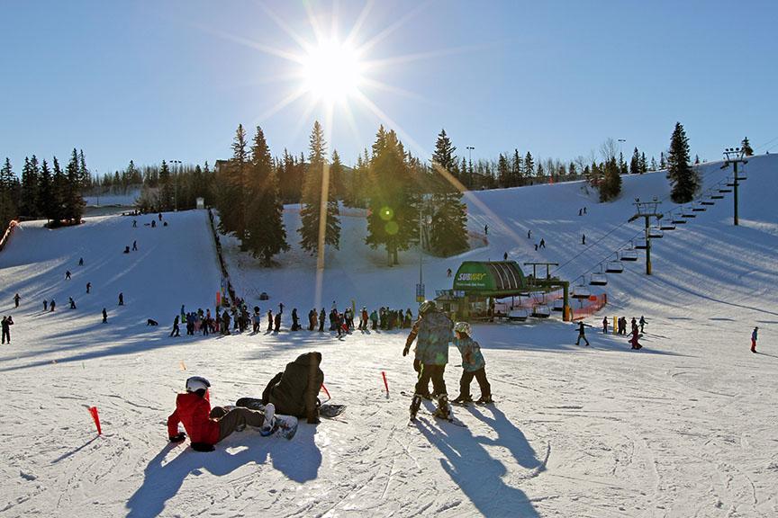 Snow boarding Edmonton