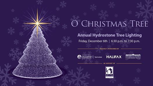 Hydrostone Tree Lighting Banner