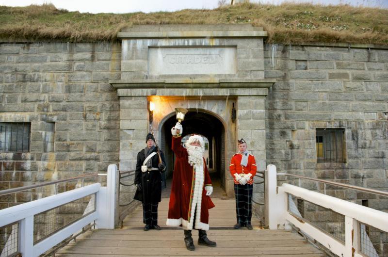 Santa in Halifax Citadel