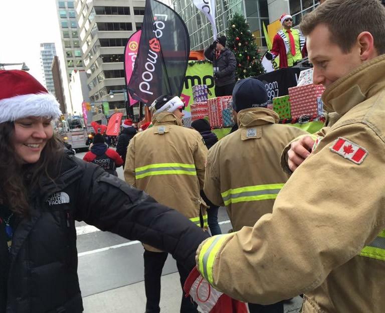 Fireman Helping Christmas