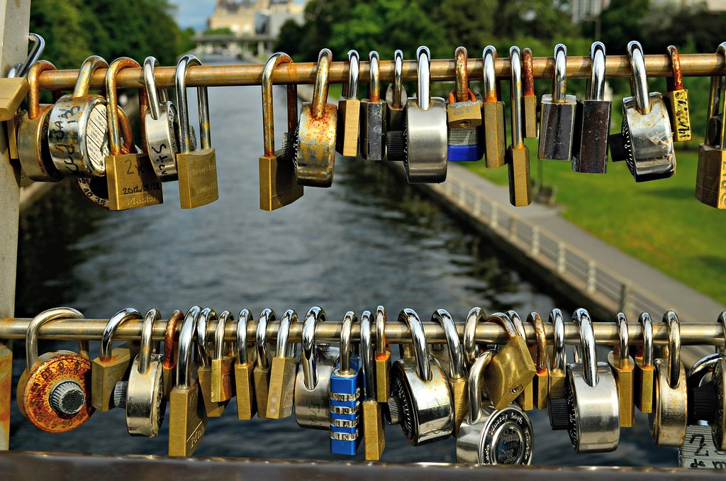 Love Locks Bridge Ottawa