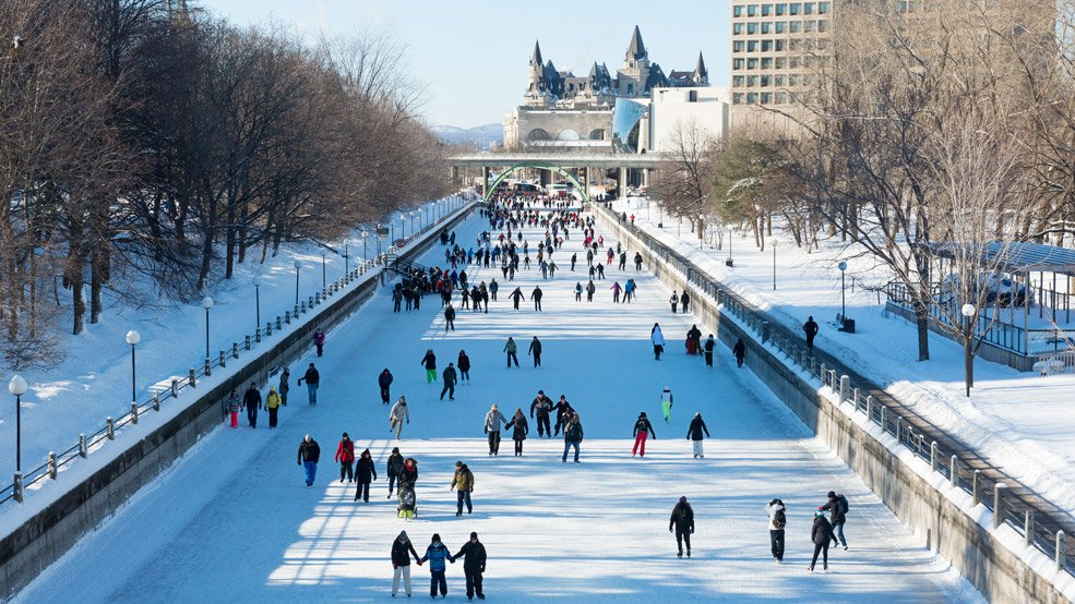 Skating the Rideau Canal