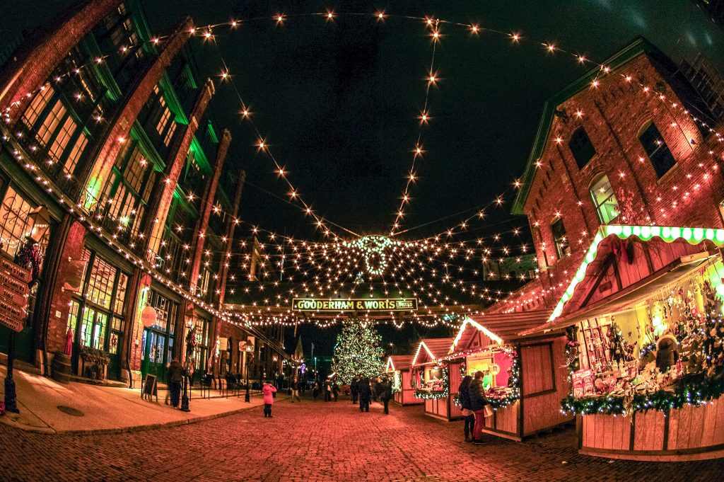 Rediscover the magic and romance of the holidays at the Distillery District.