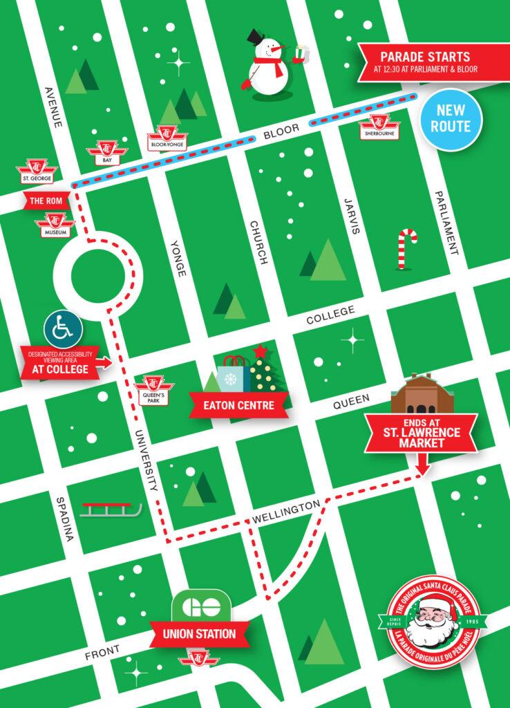 Santa Claus Parade Map